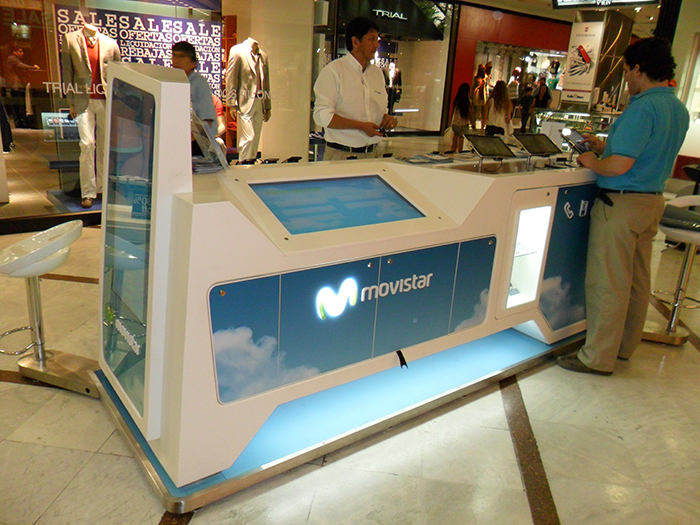 Countertop movistar matte global for Oficinas movistar